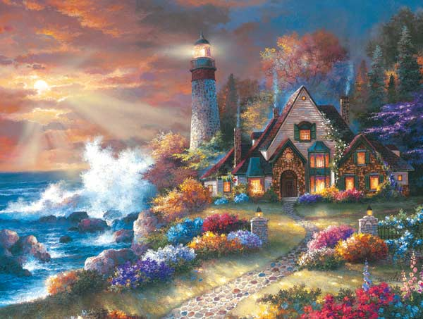 Guardian of Light Cottage / Cabin Jigsaw Puzzle