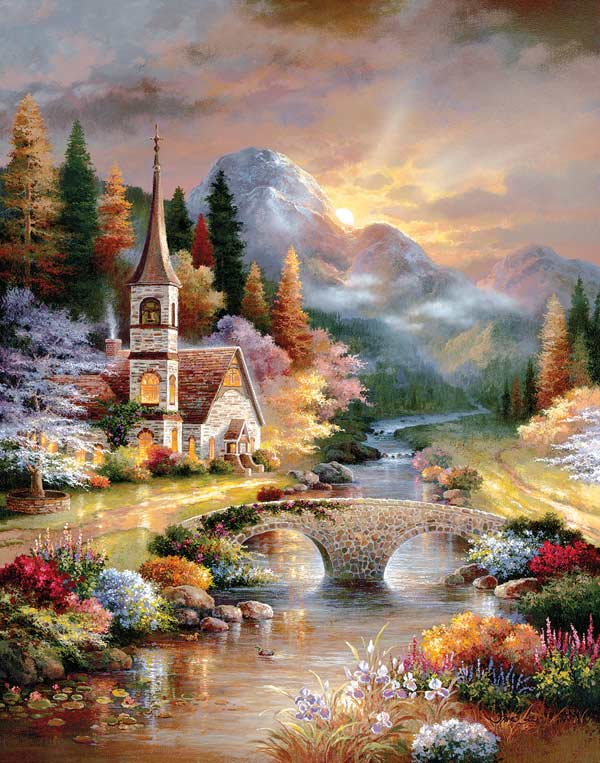 A Country Evening Service Bridges Jigsaw Puzzle