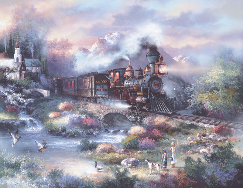 Spring Creek Express Bridges Jigsaw Puzzle