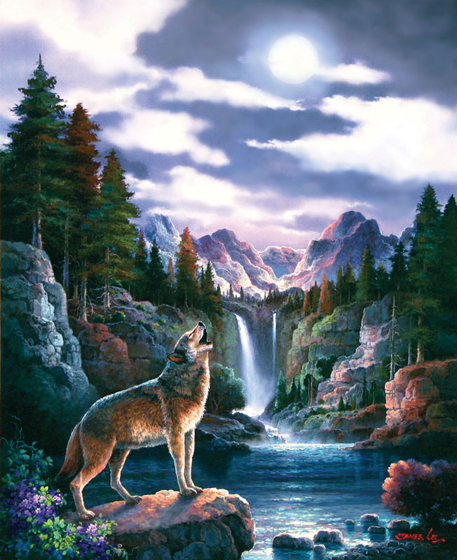 Wolf Moon Jigsaw Puzzle Puzzlewarehouse Com