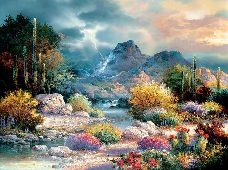 Springtime Valley Mountains Jigsaw Puzzle