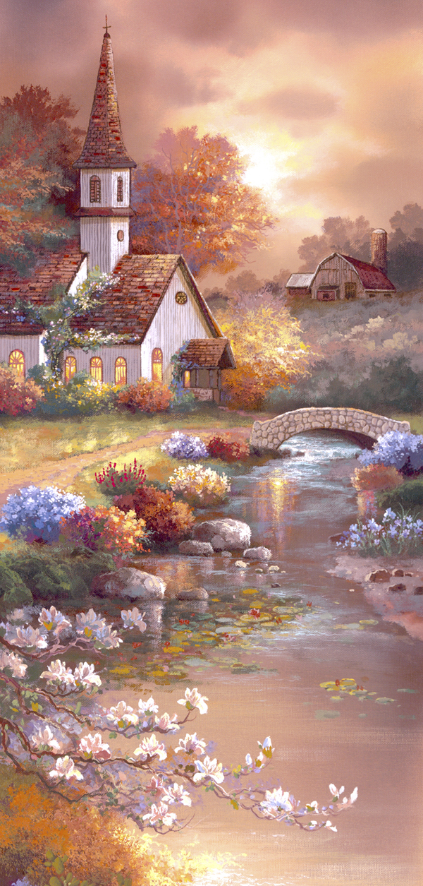 Morning of Peace Churches Jigsaw Puzzle