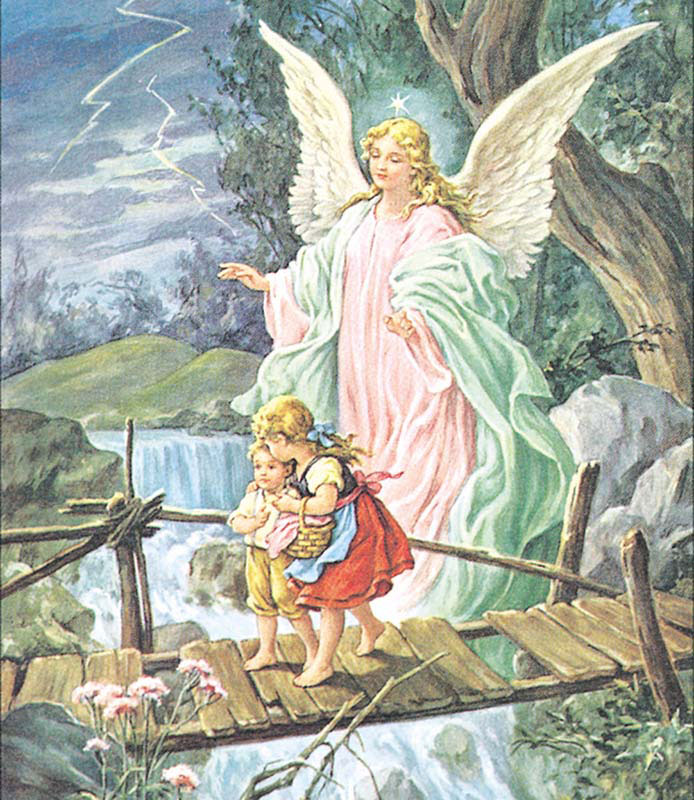 MINI - Safe Crossing Angels Jigsaw Puzzle