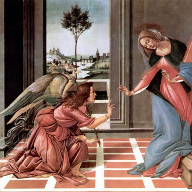 Annunciation Renaissance Wooden Jigsaw Puzzle