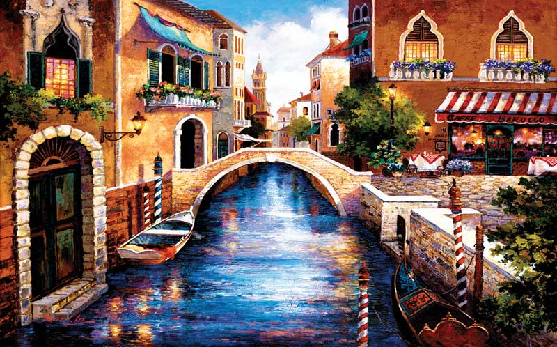 On the Canal Italy Jigsaw Puzzle