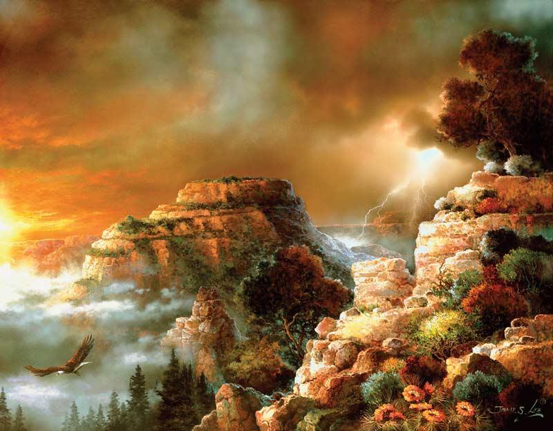 Storm Flight Landscape Jigsaw Puzzle