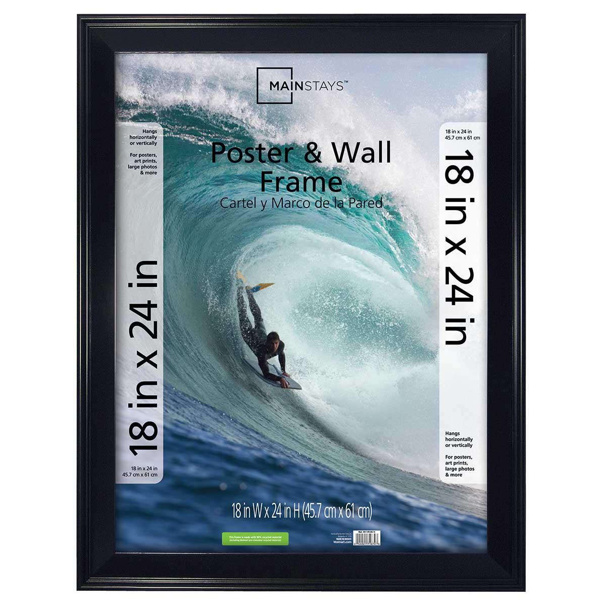 18 x 24 Black Frame Thick Border