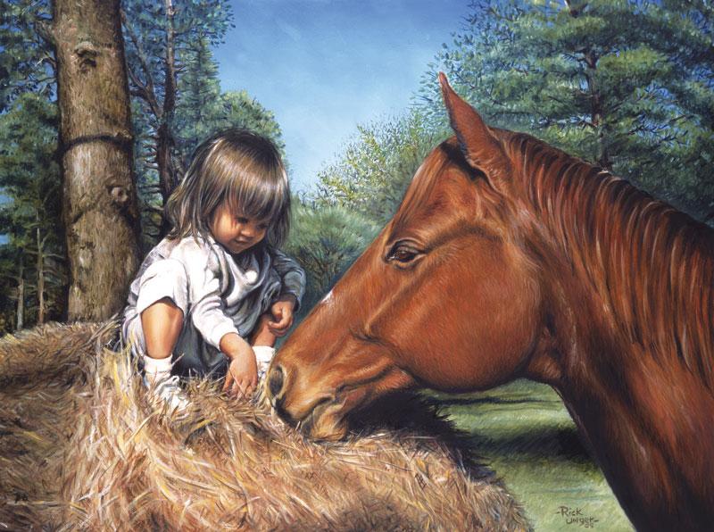 Hay, Baby Horses Jigsaw Puzzle