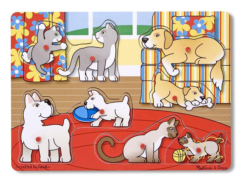 Peg Puzzle - Pets Dogs Jigsaw Puzzle