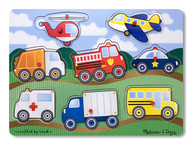 Peg Puzzle - Vehicles Vehicles Children's Puzzles