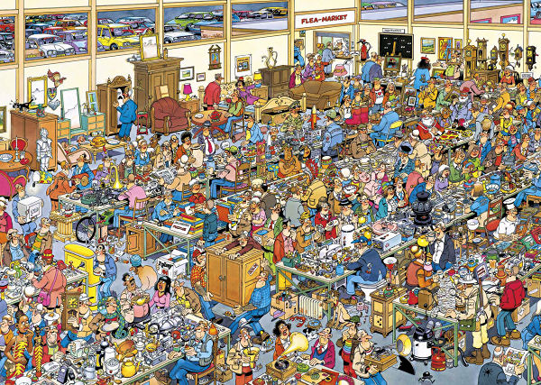 The Antique Show Cartoons Jigsaw Puzzle