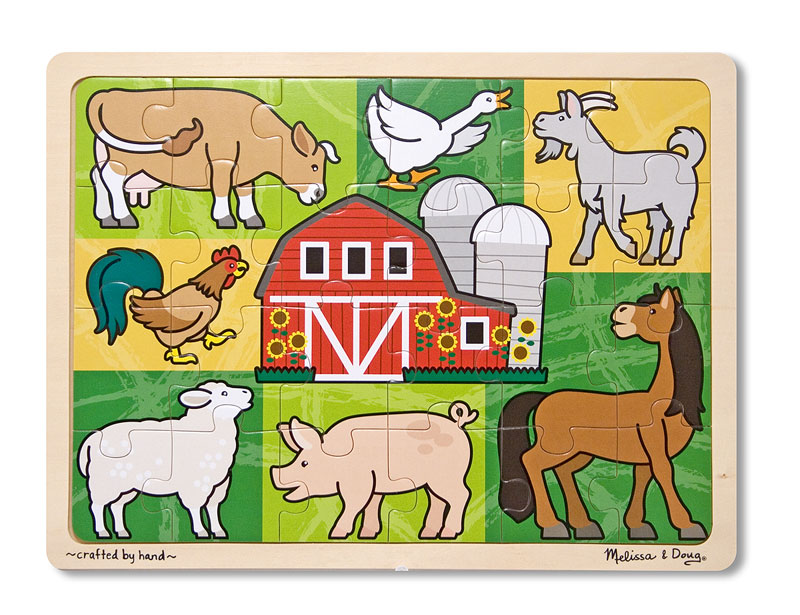 Patchwork Farm Animal Farm Animals Jigsaw Puzzle