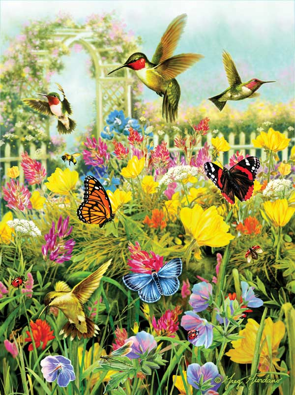 Summer in the Meadow Birds Jigsaw Puzzle