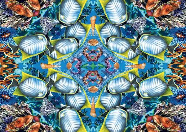 Ocean Kaleidoscope Marine Life Jigsaw Puzzle
