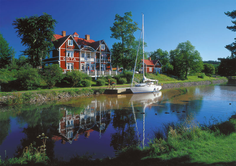 Goeta Canal, Sweden Boats Jigsaw Puzzle