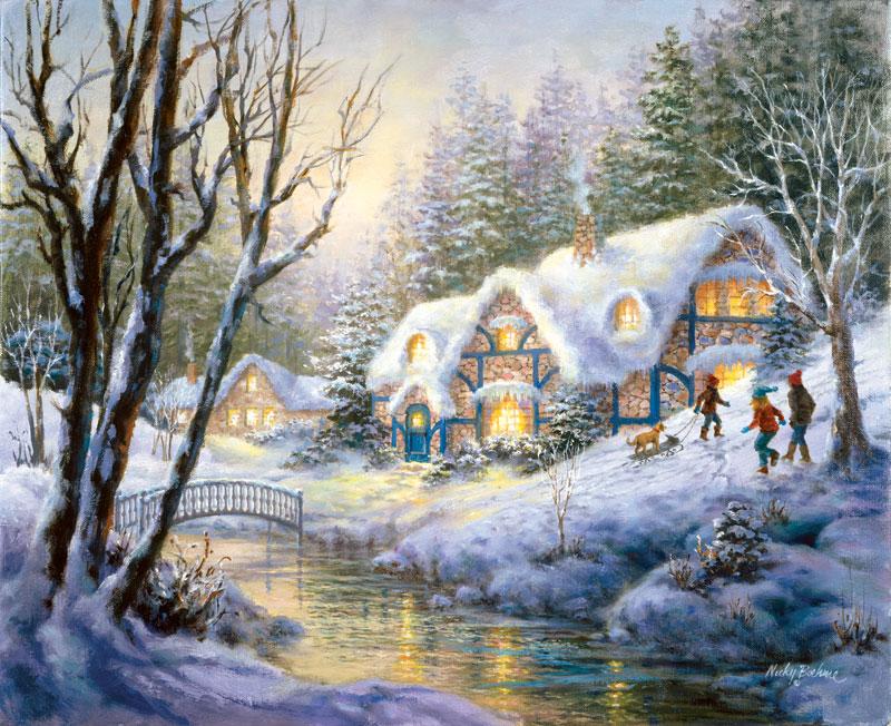 Winter Frolic Christmas Jigsaw Puzzle