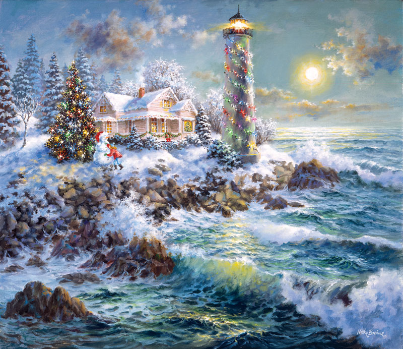 Lighthouse Merriment Jigsaw Puzzle