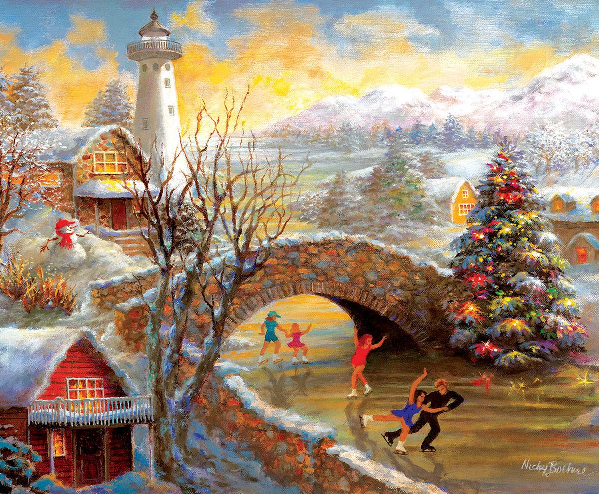 Joyous Season Mountains Jigsaw Puzzle