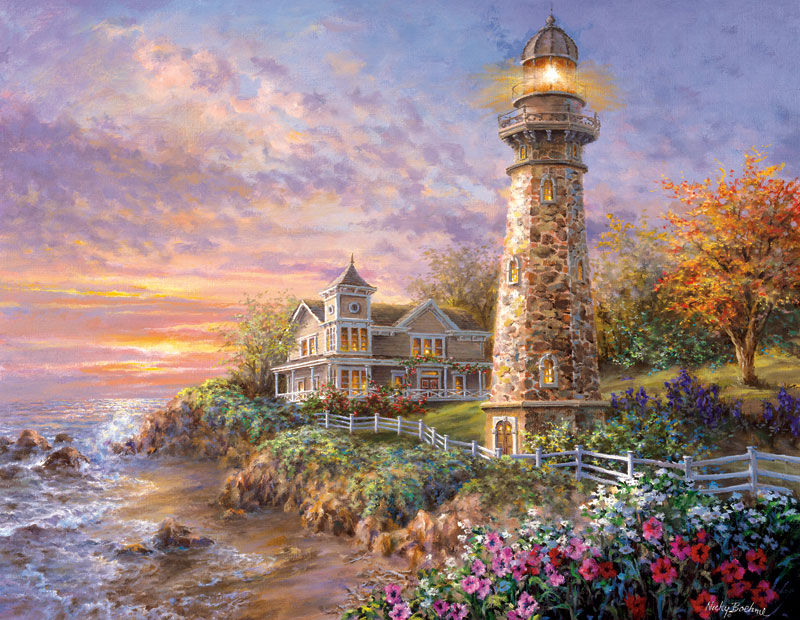 Majestic Guardian Lighthouses Jigsaw Puzzle