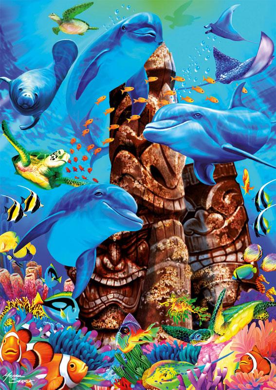 Tiki Gods Marine Life Jigsaw Puzzle