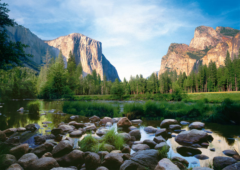 Yosemite valley jigsaw puzzle for Cabins in yosemite valley