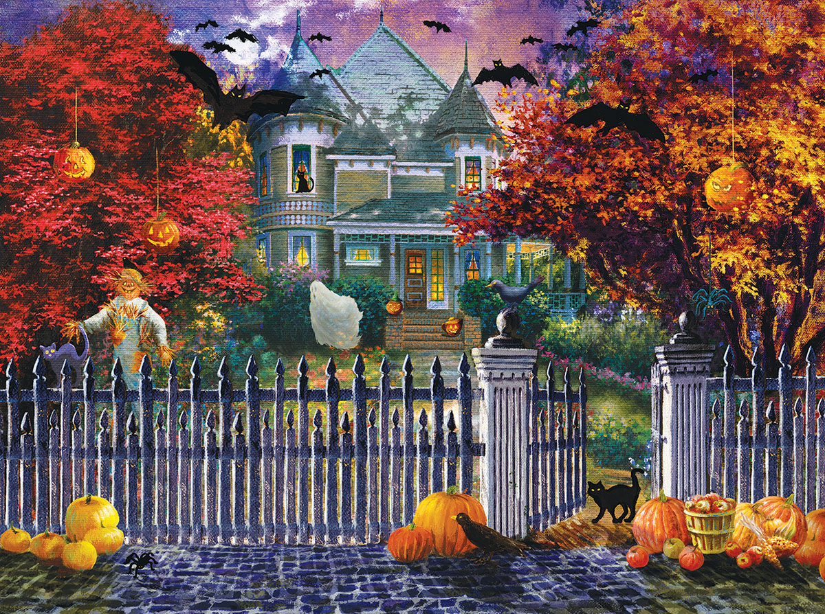 Halloween House - Scratch and Dent Fall Jigsaw Puzzle