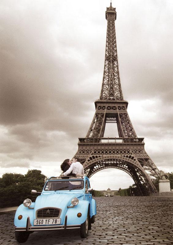 Paris Romance Eiffel Tower Jigsaw Puzzle