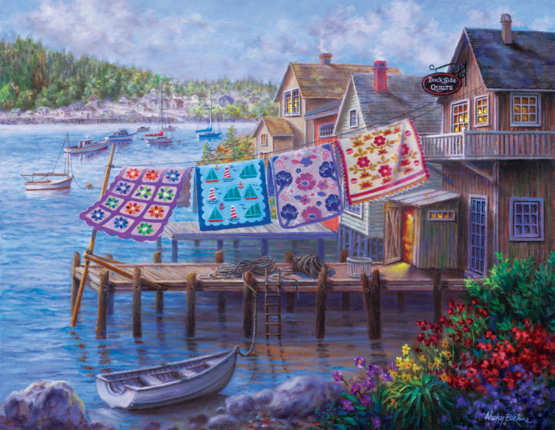 Dockside Quilts Lakes / Rivers / Streams Jigsaw Puzzle