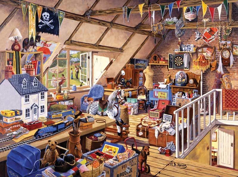 Grandma's Attic Everyday Objects Jigsaw Puzzle