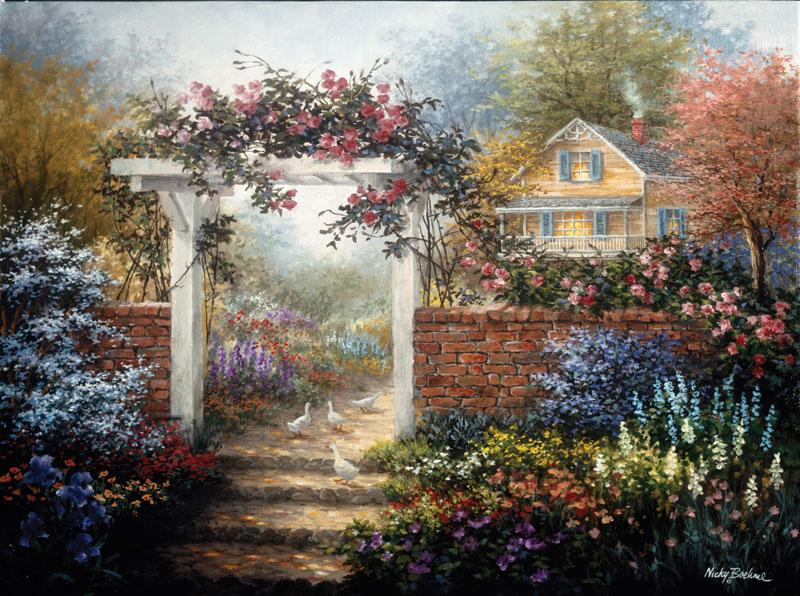 Rose Arbor Spring Jigsaw Puzzle