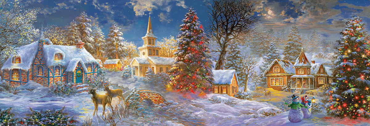 The Stillness of Christmas Winter Jigsaw Puzzle