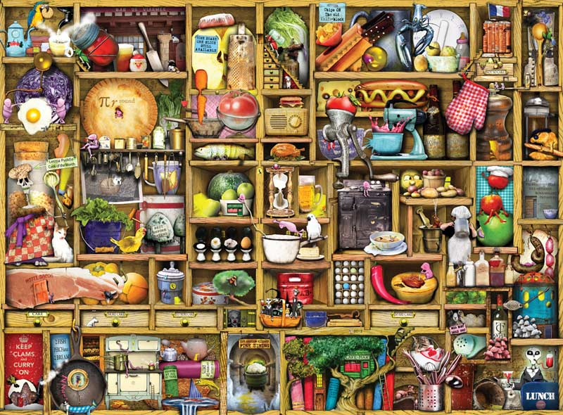 Kitchen Cupboard Everyday Objects Jigsaw Puzzle
