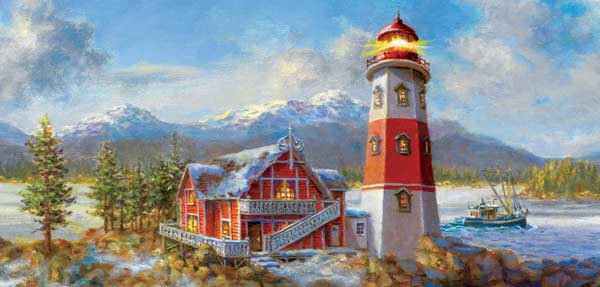 Lighthouse Bluff Lighthouses Jigsaw Puzzle