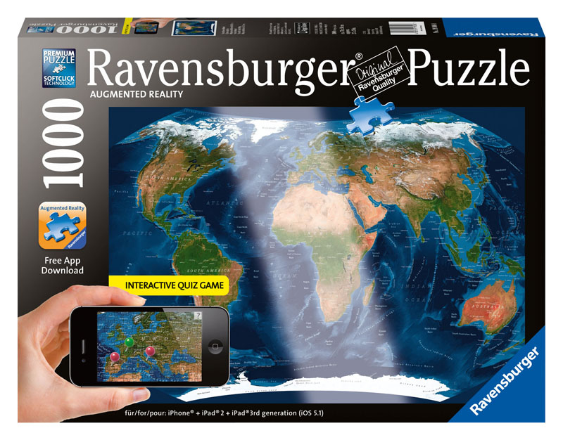 Satellite world map augmented reality jigsaw puzzle satellite world map augmented reality maps geography jigsaw puzzle gumiabroncs Choice Image