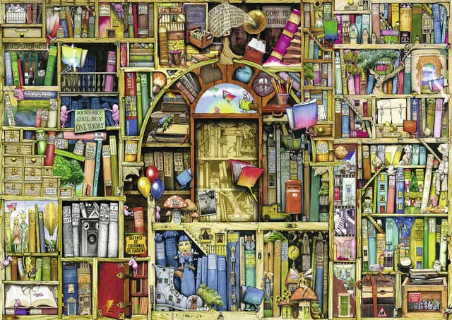 Bizarre Bookshop 2 Everyday Objects Jigsaw Puzzle
