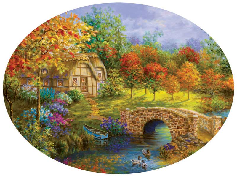 Beautiful Autumn - Scratch and Dent Countryside Shaped Puzzle