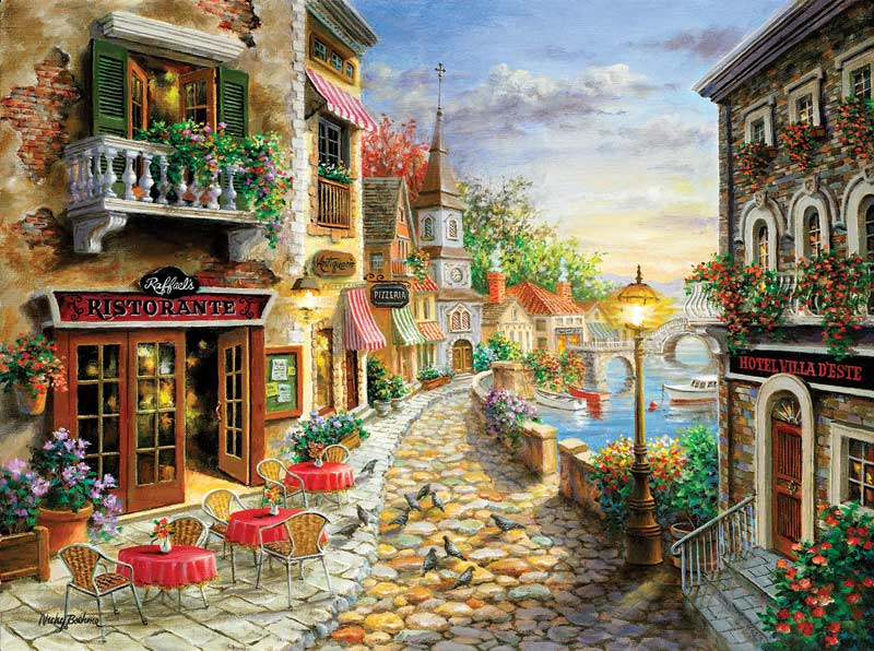 Hotel Villa D'Este - Scratch and Dent Travel Jigsaw Puzzle