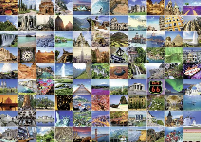 99 Beautiful Places on Earth - Scratch and Dent Travel Jigsaw Puzzle