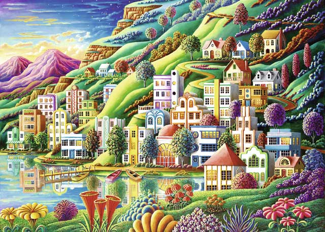 Dream City - Scratch and Dent Landscape Jigsaw Puzzle