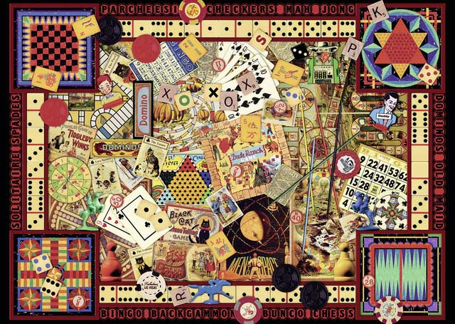 Vintage Games Everyday Objects Jigsaw Puzzle