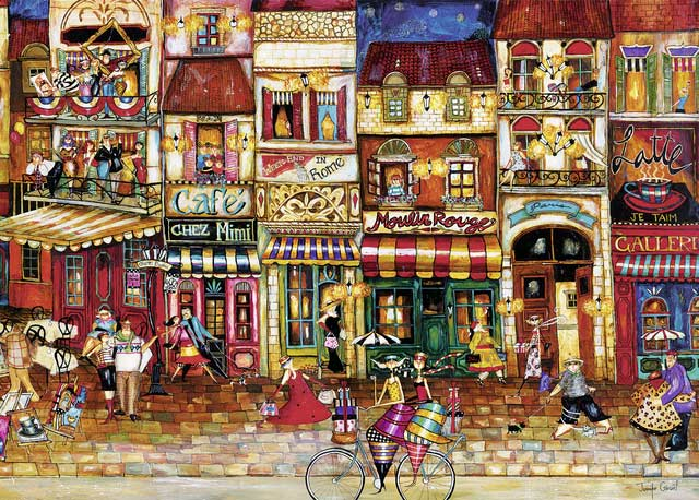 Streets of France Street Scene Jigsaw Puzzle
