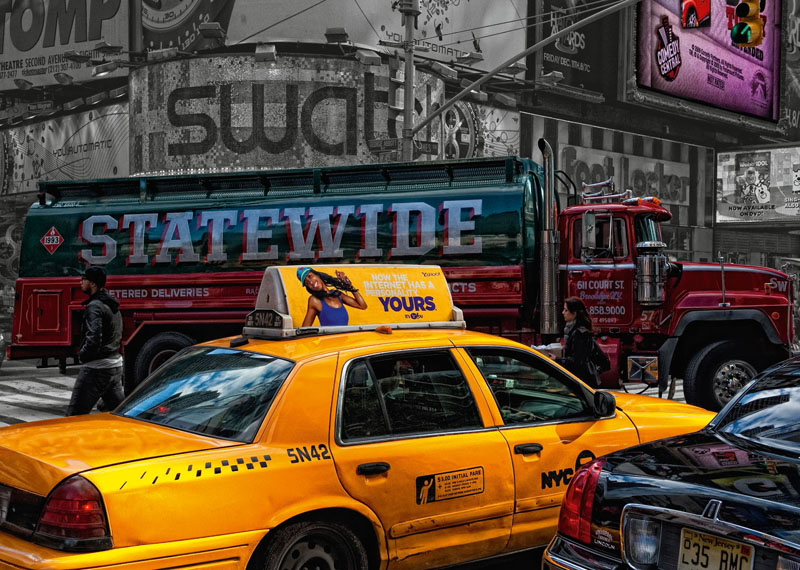 Yellow Taxi Cars Jigsaw Puzzle