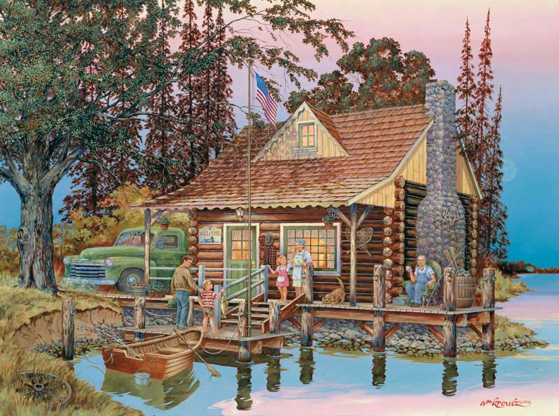 Grand Pops Cabin Countryside Jigsaw Puzzle