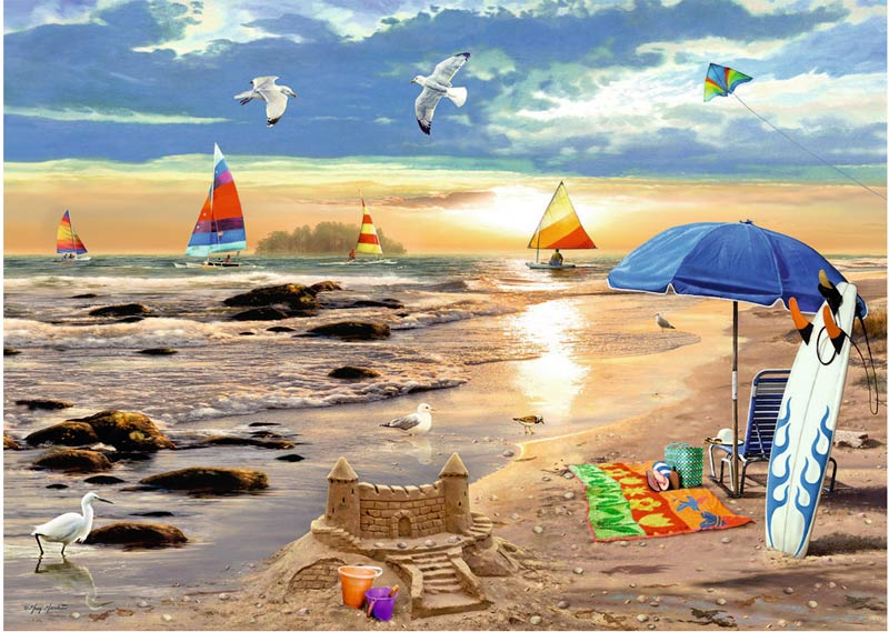 Ready for Summer Beach Jigsaw Puzzle