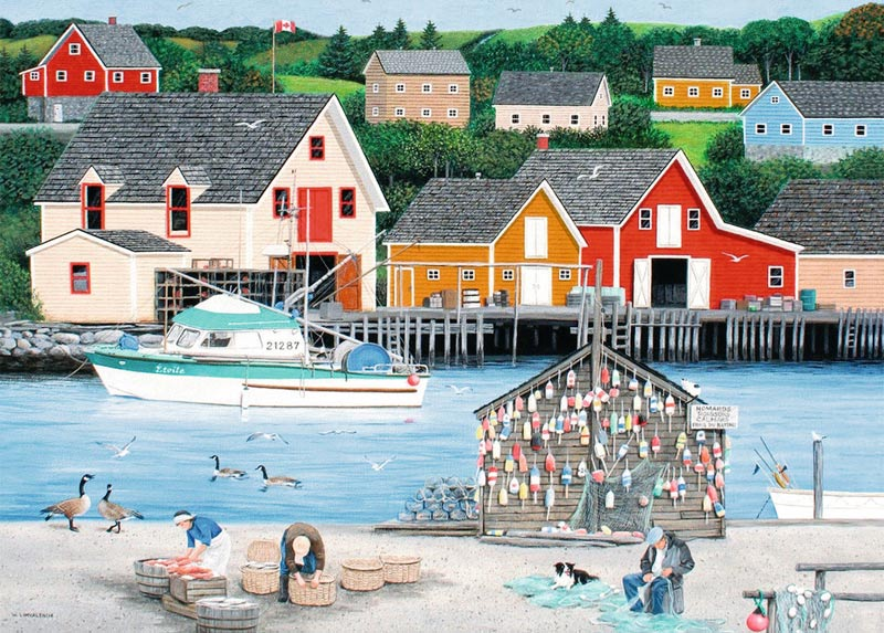 Fisherman's Cove (Canadian Collection Canadienne) - Scratch and Dent Birds Jigsaw Puzzle