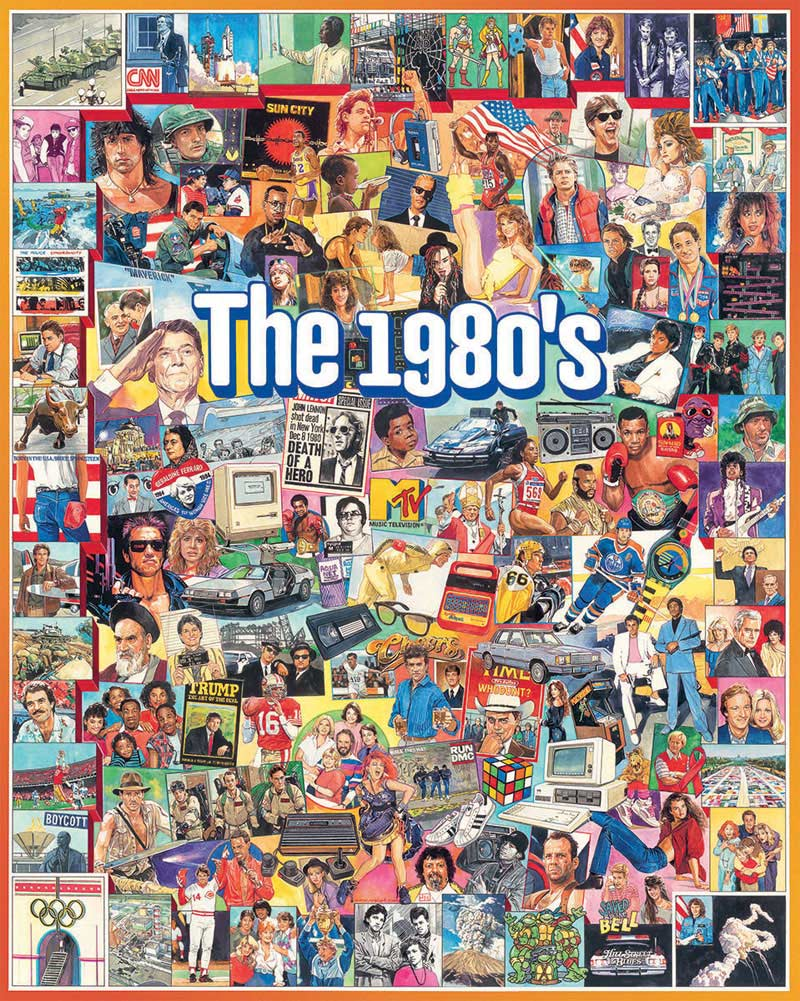 The Eighties Famous People Jigsaw Puzzle