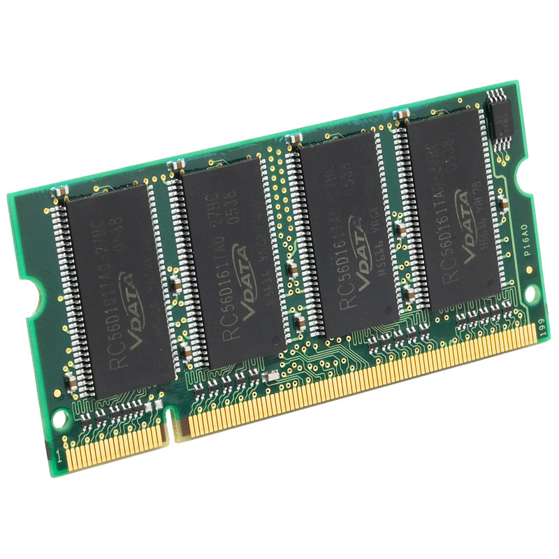 256MB DDR-333 PC2700 Non-ECC Unbuffered 200 Pin 2.5V CL=2.5 Memory 16X16