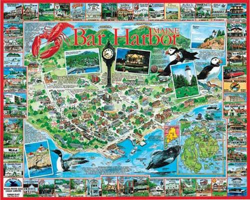 Bar Harbor, ME Maps Jigsaw Puzzle
