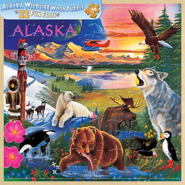 Wood Fun Facts - Alaska Wildlife Wildlife Jigsaw Puzzle