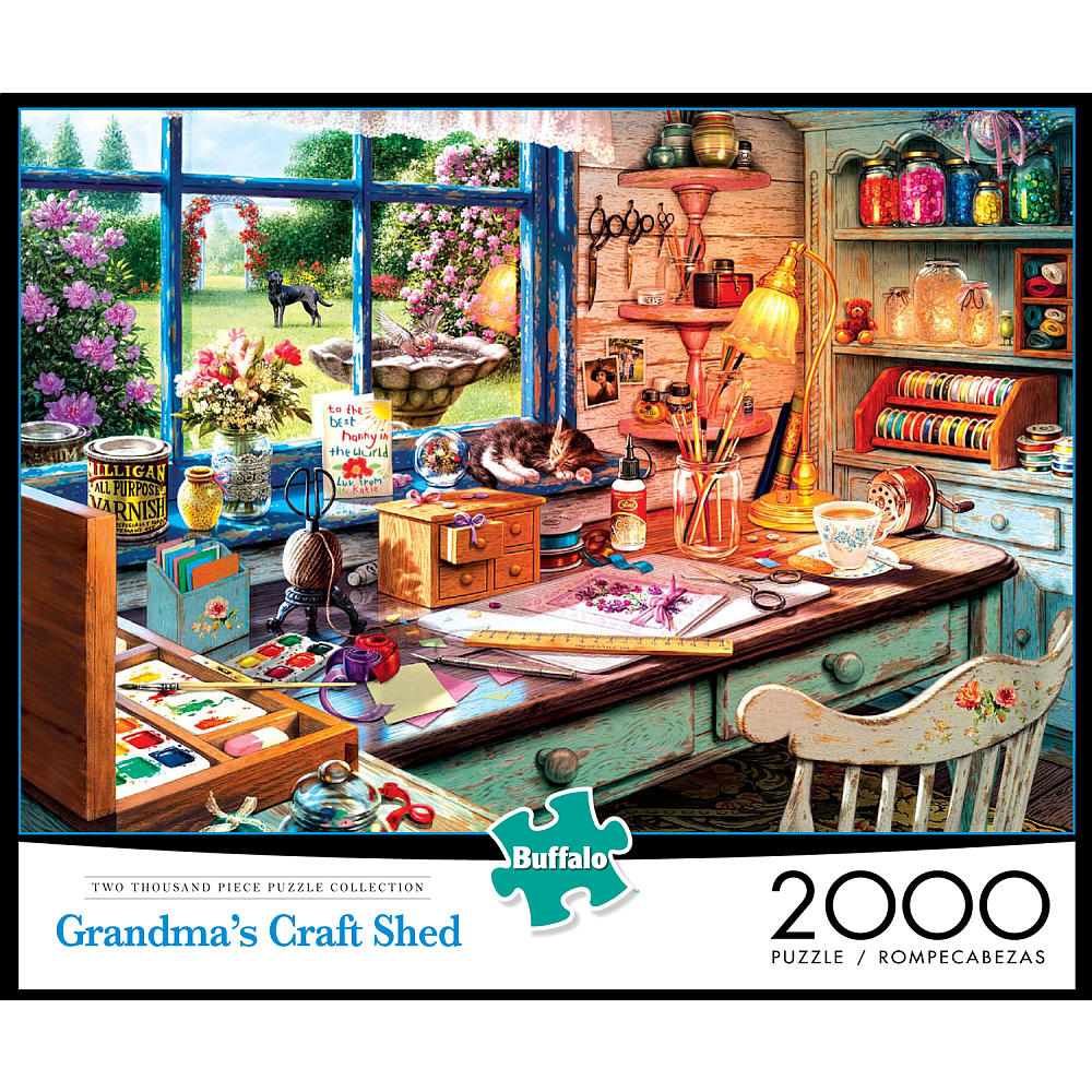 Grandma's Craft Shed - Scratch and Dent Crafts & Textile Arts Jigsaw Puzzle